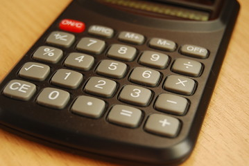 calculator on worker table