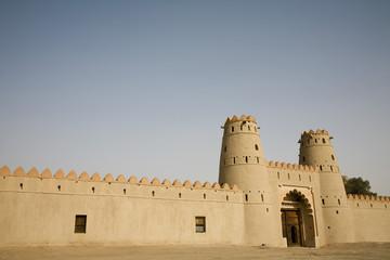 al ain, uae, front entrance of al jahli fort in al ain