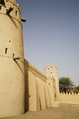 al ain, uae, architectural detail of al jahli fort in al ain