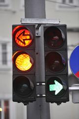 Ampel Verkehrsampel Pfeil Richtung