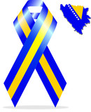 Bosnian Flag Ribbon & Map