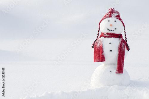 Leinwanddruck Bild Happy snowman