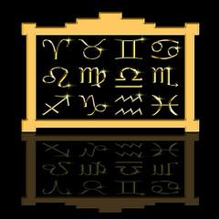 Zodiac signs framed