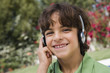 Little Boy Listening to Headphones