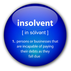 """insolvent"" definition button"