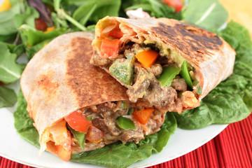 mexican steak burrito