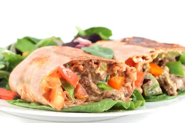 mexican steak burrito