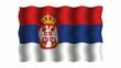 3D-animierte Flaggen im Wind: Serbien