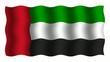 3D-animierte Flaggen im Wind: Vereinigte Arabische Emirate