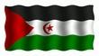 3D-animierte Flaggen im Wind: Westsahara