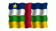 3D-animierte Flaggen im Wind: Zentralafrikanische Republik