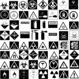 hazard symbol vector collection