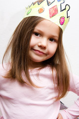 little girl dressed up like a princess