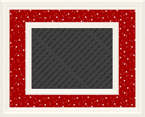 Red & White Magical Stars Frame
