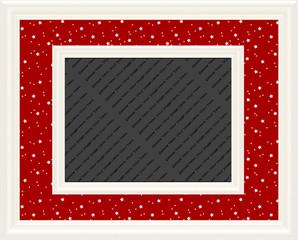 Red & White Magical Stars Frame