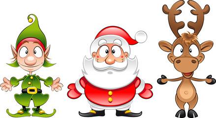 Santa claus, Elf, Rudolph
