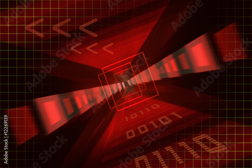 Background Technik red