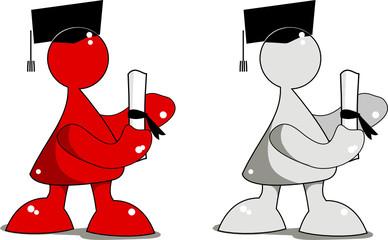 Muñeco graduado