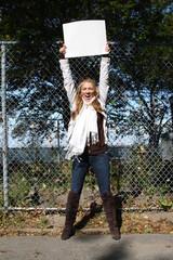 Young environmentalist girl