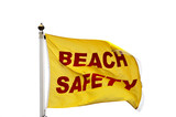 A Beach Safety Warning Flag. poster