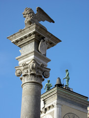Leone di San Marco ed i Mori - Piazza Liberta - Udine Friuli