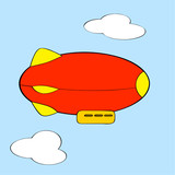 Cartoon blimp