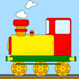Cartoon steam engine