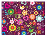 Love Peace groovy graphic