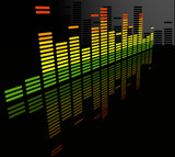 Fototapety the vector  equalizer abstract background