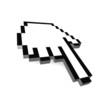 Computer hand cursor 3d rendered illustration