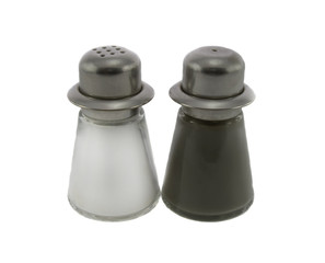 Salt & Pepper Shaker isolated over white background