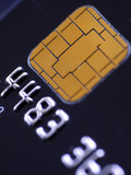 Credit card with microchip poster