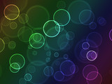 Bright colorful bokeh abstract circles poster