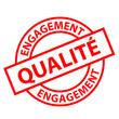 """Tampon """"Engagement Qualité"""" (rouge)"""