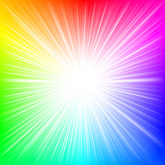Rainbow burst VECTOR