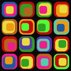 Retro Hintergrund aus Quadraten (Vector)