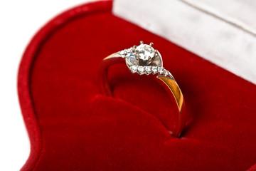 Diamond ring in red box