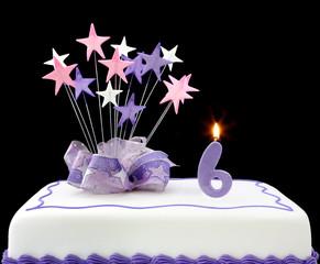 Number 6 Cake