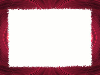 Red Fractal Border with White Copy Space
