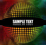 Fototapety Abstract  Multicolor spherical Background