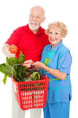 Seniors with Organic Produce