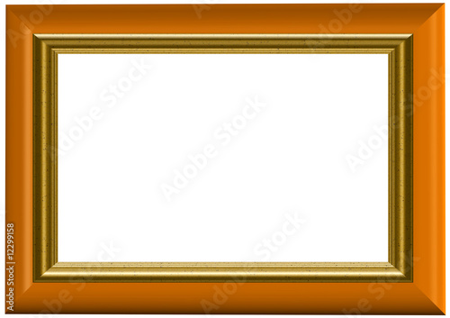 Double Golden Frame - with isolated clipping path