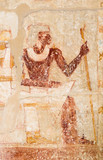 Picture of pharaoh on the wall, Saqqara, Egypt