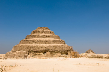 Step pyramid in Saqqara, Egypt