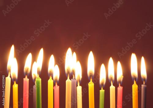 Leinwandbild Motiv Birthday candles