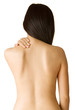 Woman with backache from behind