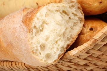 Basket of baguettes.