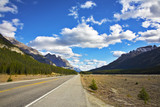 Magnificent  road. Northern landscape poster