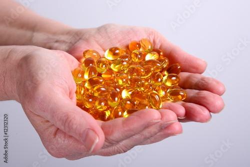 two hand-full Omega3 pill`s - 12312320