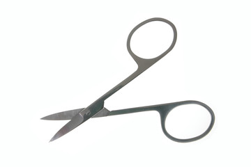 Manicure scissors isolated